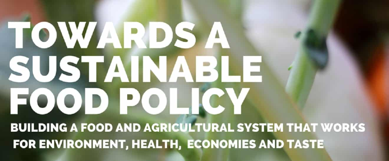 Towards a Sustainable Food Policy
