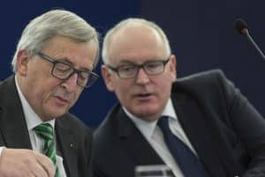 Juncker Timmermans http://www.euractiv.com/section/science-policymaking/news/commission-officials-demotivated-by-juncker-timmermans-bottleneck/