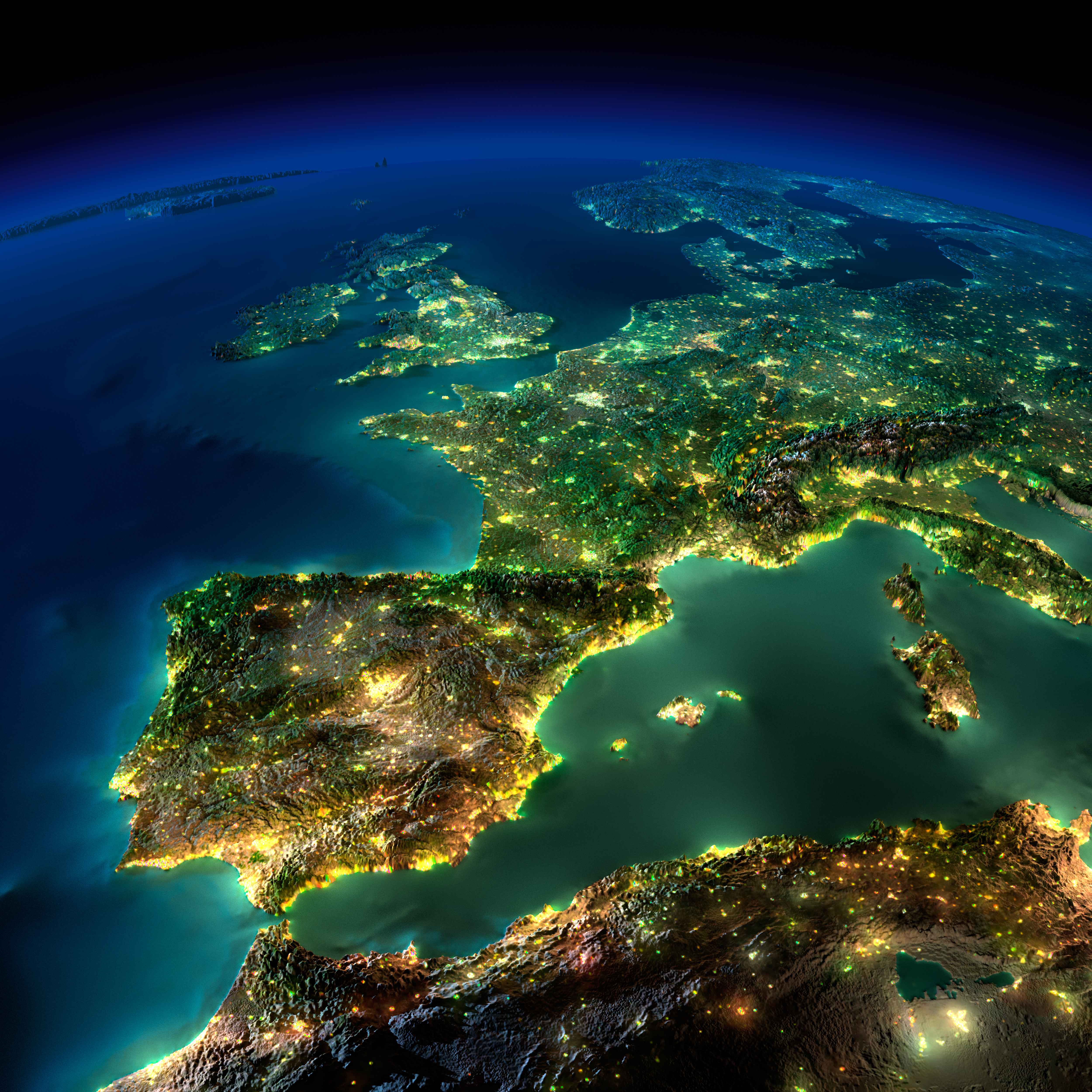 Country specific recommendations csr 201 what is new Satellite-map-of-Europe