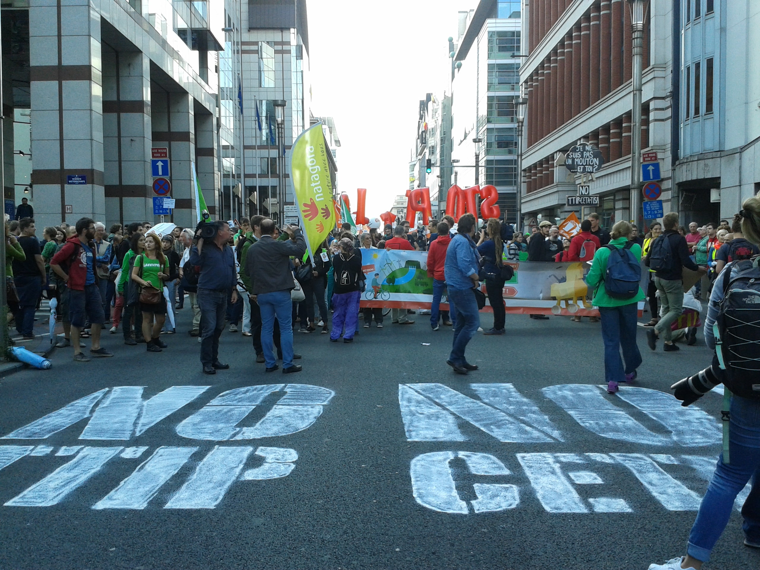 TTIP CETA demonstrations Brussels