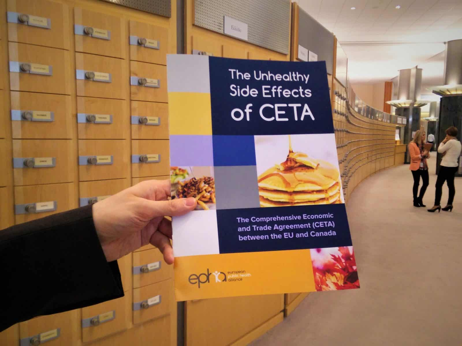 CETA booklet unhealthy side effects of ceta european parliament envi vote campaign ceta health