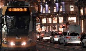 Milan cars tram airpollution