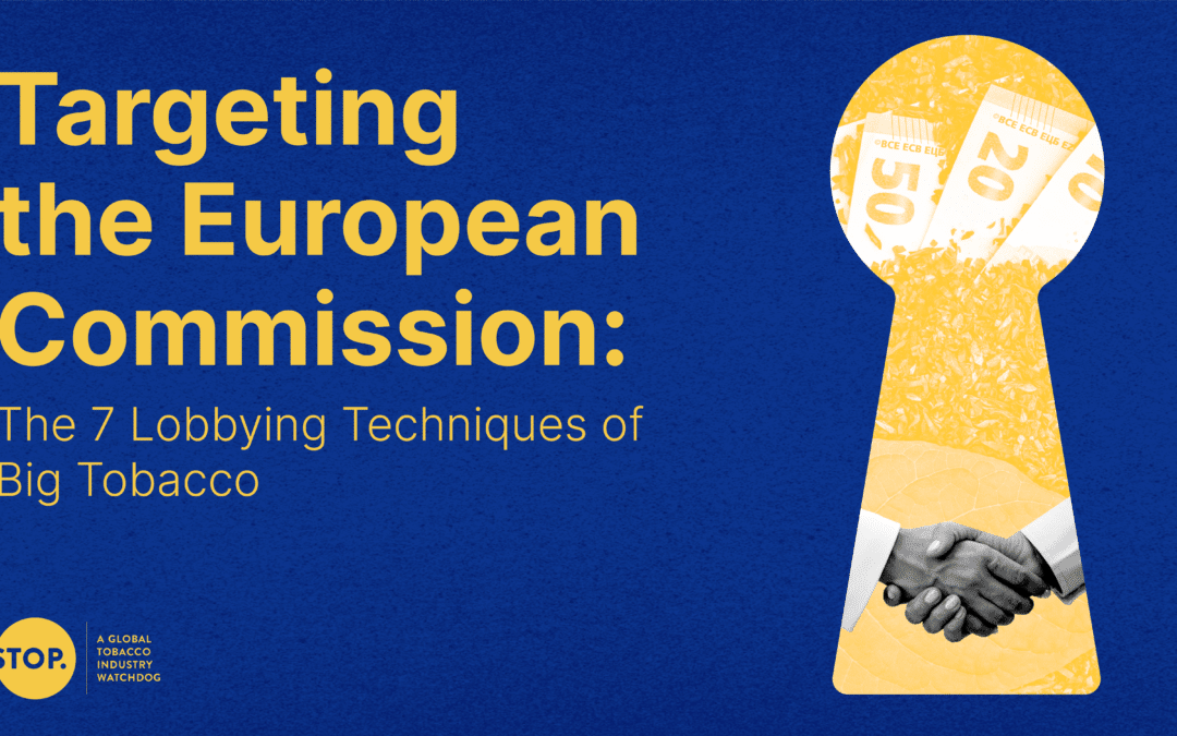 New report reveals tobacco lobbying of European Commission